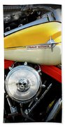 Yellow Harley Beach Towel by Lainie Wrightson