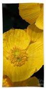 Yellow Iceland Poppy Beach Towel