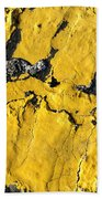 Yellow Line Abstract Beach Towel
