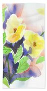 Yellow Magnolias Beach Towel