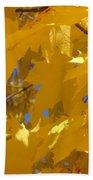 Yellow Maple Leaves Beach Towel