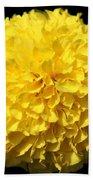 Yellow Marigold Beach Towel