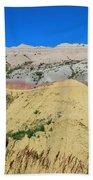 Yellow Mounds Badlands National Park Beach Towel