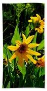 Yellow Mountain Flowers Beach Sheet