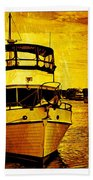 Yellow On The Water Beach Towel