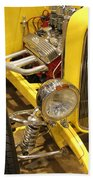 Street Car - Yellow Open Engine Beach Towel