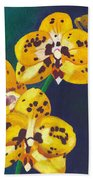 Yellow Orchids Beach Towel
