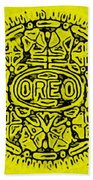 Yellow Oreo Beach Towel