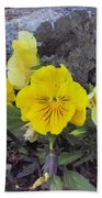 Yellow Pansies Beach Towel
