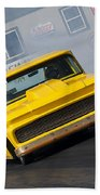 Yellow Pick Up Truck Beach Towel