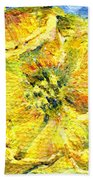 Yellow Poppy Beach Towel