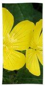 Yellow Primrose Beach Towel