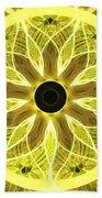 Yellow Rays Beach Towel
