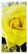 Yellow Rose 2 Beach Towel
