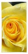Yellow Rose L Beach Towel