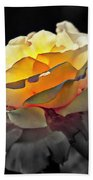 Yellow Rose Series - ...but Soul Is Alive Beach Towel