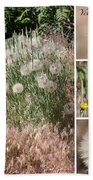 Yellow Salsify Collage Beach Towel