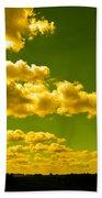 Yellow Skies Beach Towel