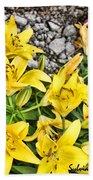 Yellow Spring Beach Towel