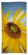 Yellow Sunflower Beach Towel