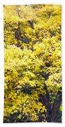 Yellow Tree Beach Towel