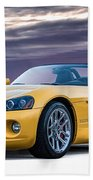 Yellow Viper Convertible Beach Towel
