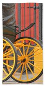 Yellow Wheeled Carriage In Seville Beach Towel