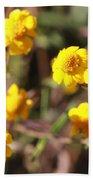 Yellow Wild Flowers Beach Towel