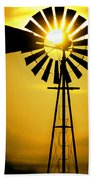 Yellow Wind Beach Towel