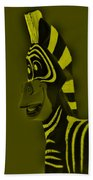 Yellow Zebra Beach Towel