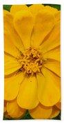 Yellow Zinnia Beach Towel