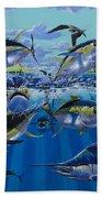 Yellowfin Run Off002 Beach Towel