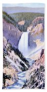 Yellowstone Canyon Yellowstone Np Beach Towel