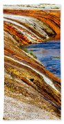 Yellowstone Earthtones Beach Towel by Bill Gallagher
