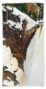 Yellowstone Falls From Lookout Point. Beach Towel