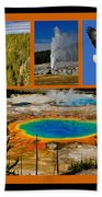 Yellowstone National Park Beach Towel