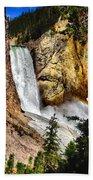 Yellowstone Lower Falls Rainbow Beach Towel