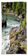 Yellowstone - Upper Falls Beach Towel
