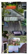 Yesterday Barns Collage Beach Towel