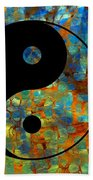 Yin Yang Abstract Beach Towel