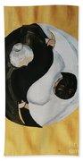 Yin Yang  Generations Hand In Hand Beach Towel