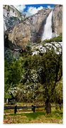 Yosemite Apple Orchard  Beach Towel