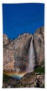 Yosemite Falls Moonbow Beach Towel