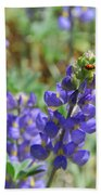 Yosemite Lupine And Ladybug Beach Towel