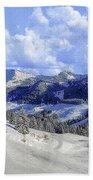 Yosemite National Park Winter Beach Towel