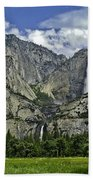 Yosemite Upper And Lower Falls Beach Towel