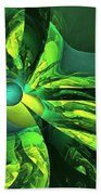 You Are Here --  Events Conspire -- Green Beach Towel