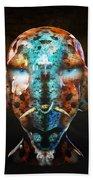 Young Alien Warrior Beach Sheet