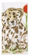 Young Cub Leopard Beach Towel
