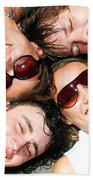 Young Friends Together Beach Towel
